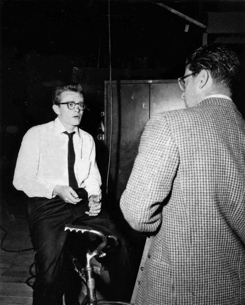 James Dean rides a bike. And discusses Jim Stark's motivation.