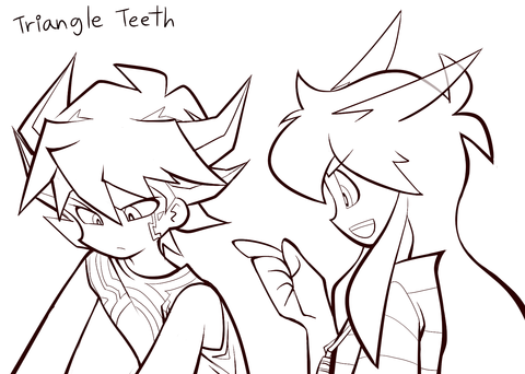 triangleteeth:  line finished coloring start~>_<