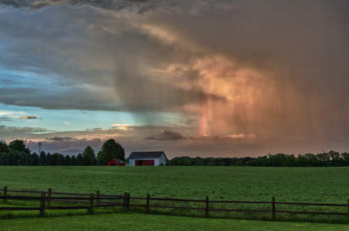 Rainbow Over the Farm by marubozo on Flickr.
