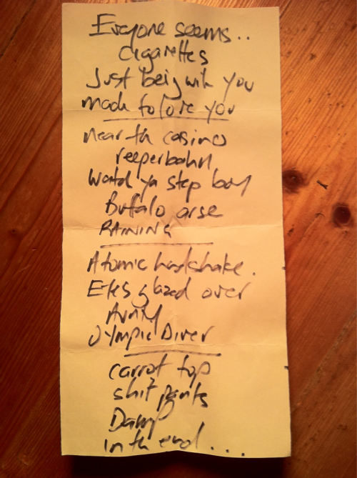 THE HARD-ONS setlist from their show last night at the Espy in St Kilda.   The encore was: What Would Stiv Bators Do? Don't Wanna See You Cry