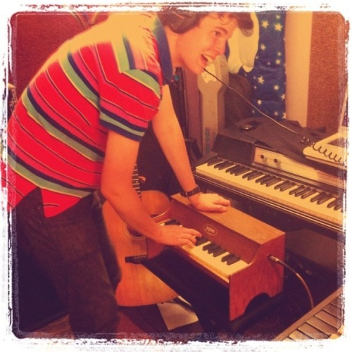 Recording toy piano for Mix Scalp Genius