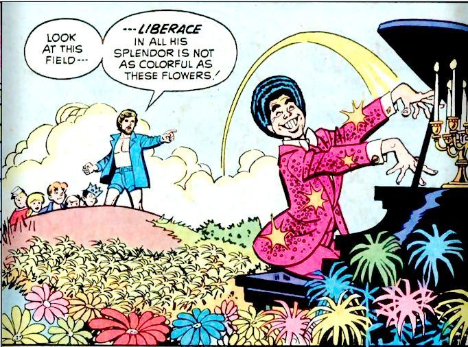 comicallyvintage:  Liberace is not the most colourful butterfly in the field.
