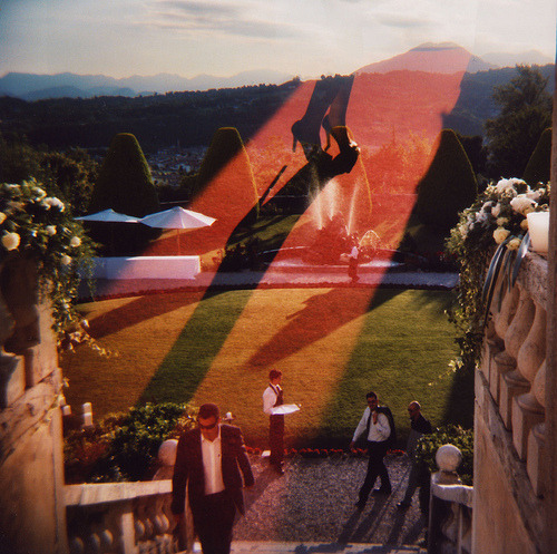 the sky is burning, a sea of flame (by alfred.agostinelli) shot with Holga 120 CFN