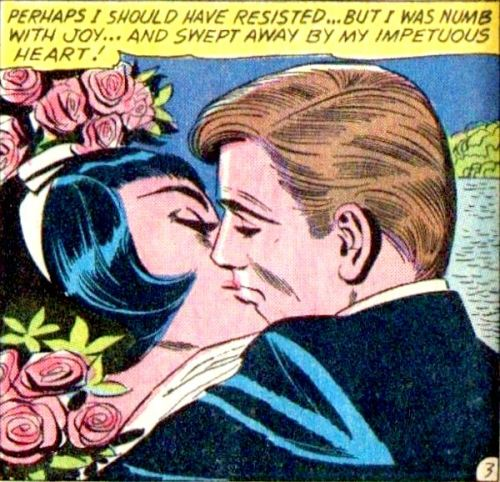 comicallyvintage:  Honey, it's not your heart, it's the man-eating bush behind you.