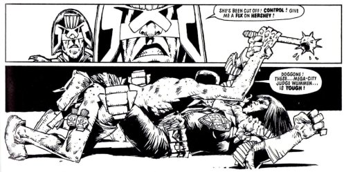thedailydredd:  Fink's seduction technique left a little to be desired. From 'The Fink', Pt 2, Prog 194.