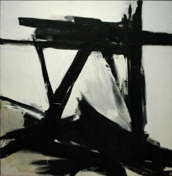 nearlya:  Franz Kline, The Ballantine, oil on canvas, 1958-60