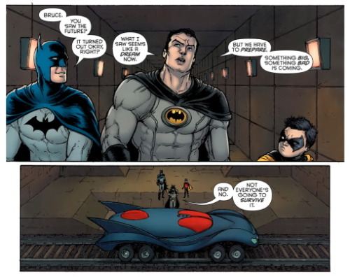 From Batman Incorporated #6 - May 2011  Were you trying to tell us something, Mr. Morrison?