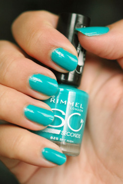 plainnails:  Rimmel 60 Seconds 'Sky High', I just adore this colour right now!