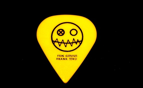 mychemicalromanceguitarpicks:  FRANK IERO GUITAR PICK GIVEAWAY   As some of you may know, over here at MyChemicalRomance Guitar Picks, we sell guitar picks that have been custom made for, and used by the band My Chemical Romance.  As a special treat to celebrate the band being together for 10 years we are giving away one guitar pick, used by Frank Iero on the US half of My Chem's World Contamination Tour  You must be following our blog [mychemicalromanceguitarpicks.tumblr.com] we will check.  You must reblog this post to enter for your chance to win this guitar pick. You can do so as many times as you like.  This competition will end on the 27th of September, which gives you one month to reblog the shit out of this post! That's everything, head over to our blog, say hi, and check out a list of the guitar picks we are selling, all used by Frank or Ray. Details on how to purchase a pick can be found on our blog.