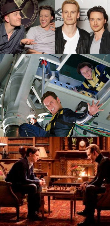 noeliaanne:  Bromances: Mutant Husbands (Michael Fassbender/James McAvoy)