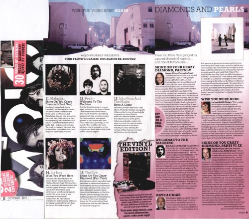 This month's Mojo Magazine CD features a Pink Floyd cover from Beak>