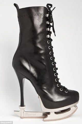 The new Dsquared 'Skate Moss' boots… Imagine walking around in those!