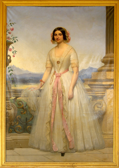 Portrait of a Young Woman by Joseph-Désiré Court, 1847 France