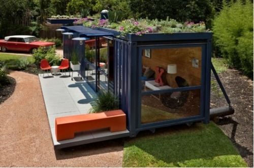 inspired re-use of shipping containers by poteet architects