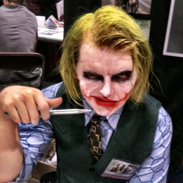 He's a lot friendlier than you'd expect. #joker #fanexpo #cosplay  (Taken with instagram)