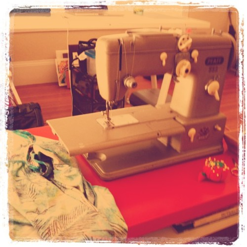 Happy Saturday! It's Pile Of Mending time with Edna Pfaff. (Taken with instagram)