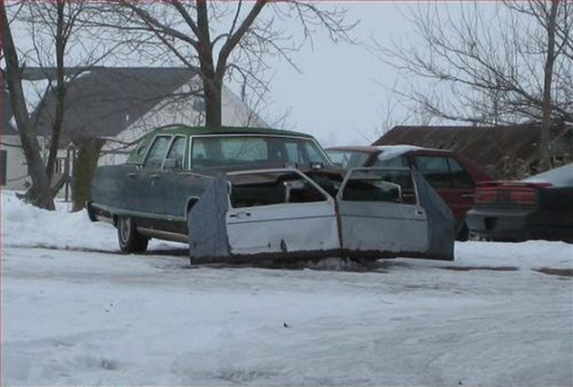 REDNECK PICTURE OF THE WEEK Redneck Snow Plow from mileanhour.