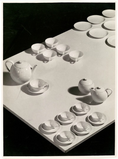 Josef Sudek Ladislav Sutnar China: Tea Service Arranged on Table 1920-29