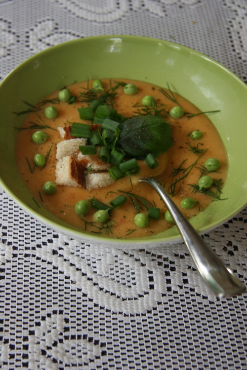 prettygirlfood:  Delicious and helthy puree soup