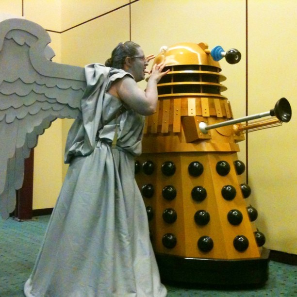 A Weeping Angel and a Dalek, and yet somehow I survived. #drwho #fanexpo #cosplay  (Taken with instagram)
