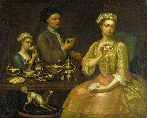 stilllifequickheart:  Richard Collins A Family of Three at Tea 1727