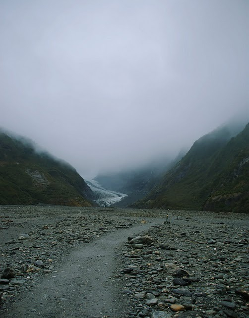 Week 34: Fog settling into the valley below Franz Josef Glacier in Westland.