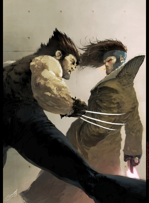 koldunkisloty:  Wolverine vs Gambit // By: Kenneth Loh