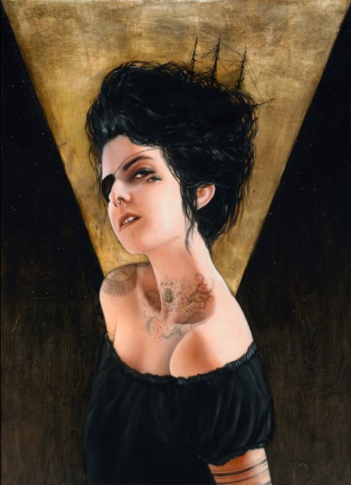 Here's a look at 'Delphine', the newest painting by SF artist Charmaine Olivia. This work is part of our upcoming September Group Show, opening on Thursday, September 1st in San Francisco. More info here - http://www.facebook.com/event.php?eid=183413171728261