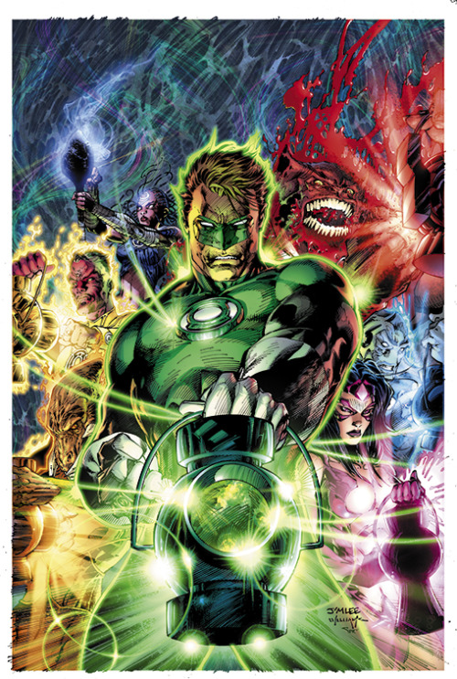 comicbookdeviant:  Green Lantern #50 // Varient Cover by Jim Lee In brightest day, in blackest night,No evil shall escape my sightLet those who worship evil's might,Beware my power… Green Lantern's light!