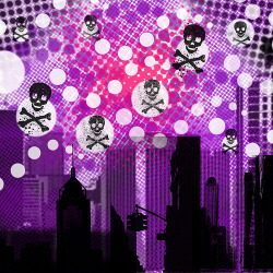 purplelovesyellow:  city of skulls (by dreamglowpumpkincat210)