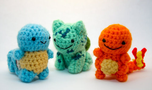 shopcute:    Knitted Pokemon $24 at DavenEvanXavier Image and  link via geekcrafts