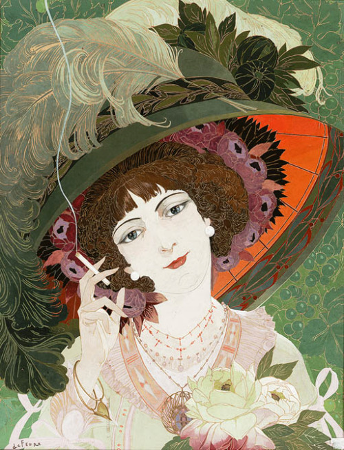 iconoclassic:  oldrags: La Fumeuse by Georges De Feure, 1910 France
