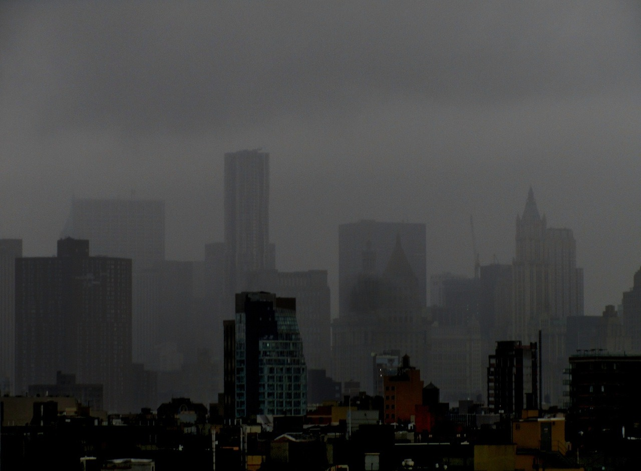 skibinskipedia:  Lower Manhattan, pre-Irene. [By Bobby Williams; more at EV Grieve.]