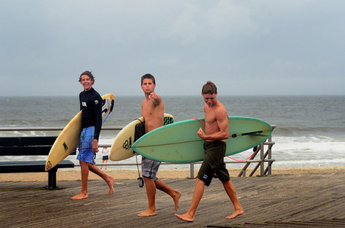 Surfers waiting for Hurricane Irene - Far Rockaway, NY on Flickr.