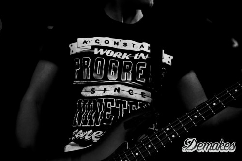 Demakes Apparel - Work in Progress design by ICON Revolution. Worn on stage by Autumn in Disguise at Hevy Festival 2011.