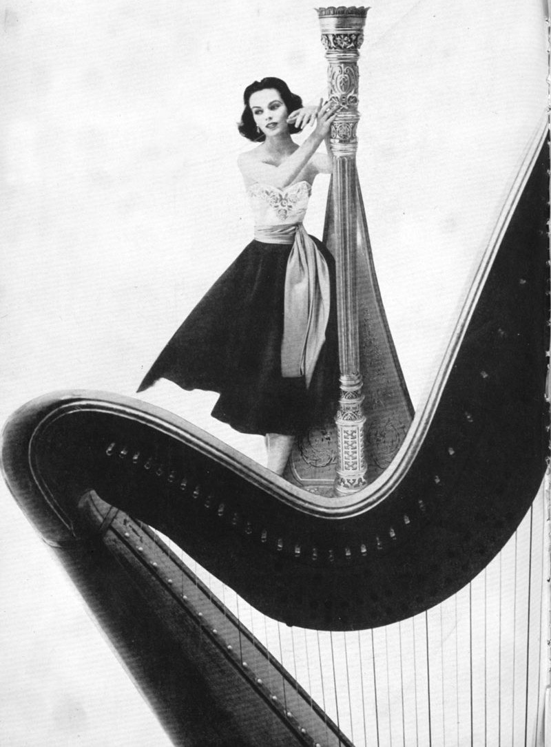 Harper's Bazaar (1951). Designed by Alexey Brodovitch and photographed by Gleb Derujinski. (via)