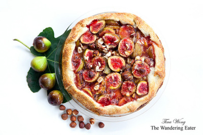 My homemade fig hazelnut crostata (flavored with orange zest, Cloister Honey's Sourwood honey, dark brown sugar, and Courvoisier 21 Cognac) made earlier before Irene hits NYC.   Amazing seasonal tart before Hurricane Irene destroys my beautiful figs.