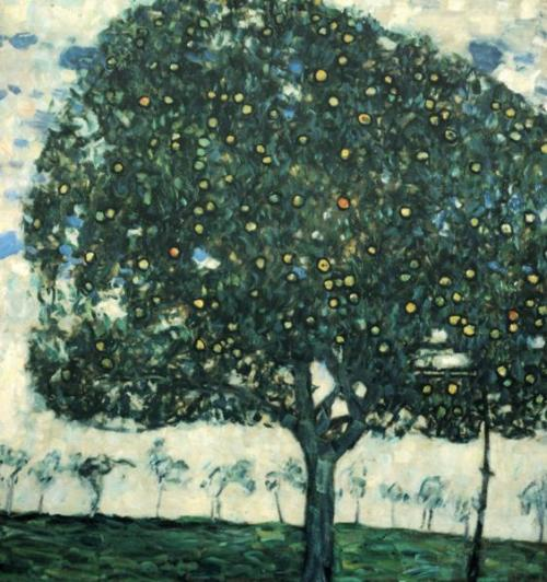 The Apple Tree, Gustav Klimt 1916. Art Nouveau period.