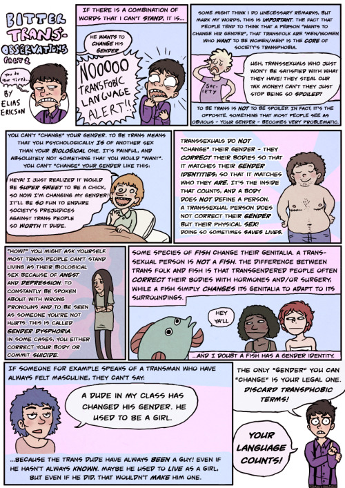 transpride:  comic by Elias Ericson Part two