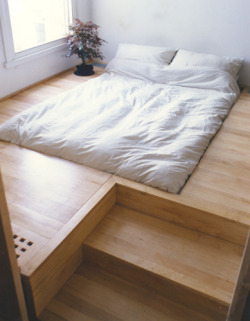 New meaning to platform bed. Going to build one of these for the shoebox.