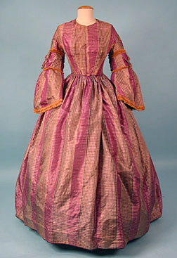 Day dress, ca 1858