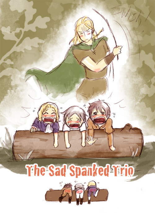 The Sad Spanked Trio