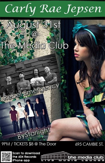 Carly Rae Jepsen will be at the Media club!