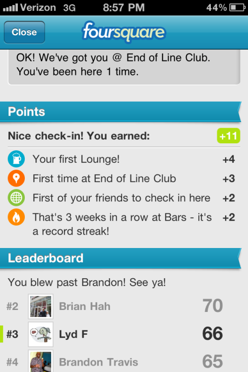 I think Foursquare is trying to hint…
