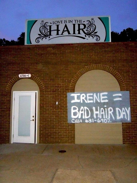 """Irene = Bad Hair Day"" — Virginia Beach, VA  
