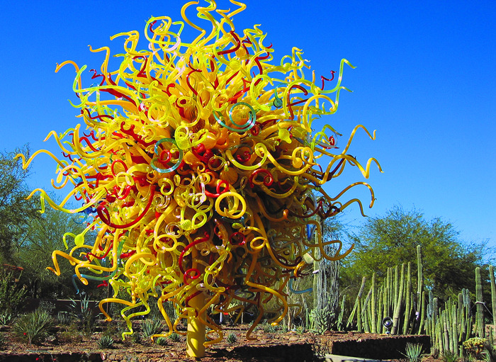 Dale Chihuly Sculpture in the Phoenix Botanical Gardens