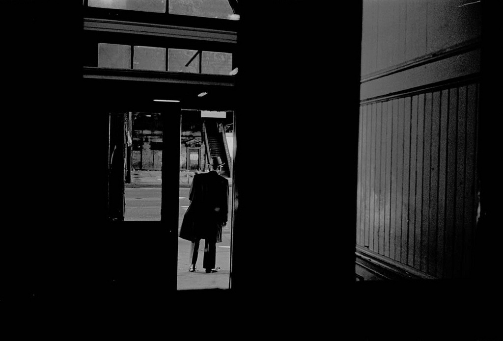 liquidnight:  Ozier Muhammad Leaving Harlem Line 125th Street, Harlem, New York, January 1993 [via Everyday_I_Show]