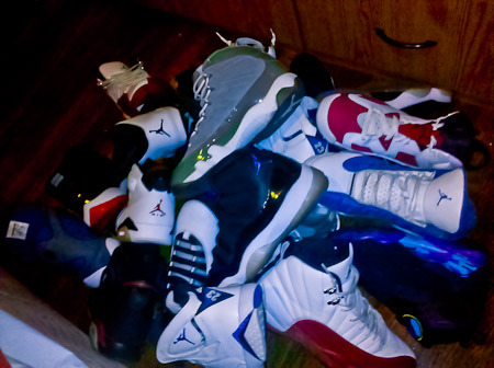 legendbeforeprime:  Instead of finding a picture of Jordans on the internet, I took a picture of my own.