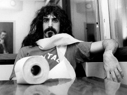 "kvetchlandia:  anneyhall:  Frank Zappa 1968. ""Jazz isn't dead it just smells funny.""     I'm not making any editorial comments.  I just think Zappa's quote is pretty funny."