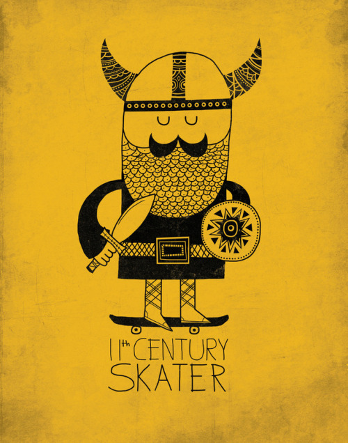 11th Century Skater by http://farnelldoodles.blogspot.com/